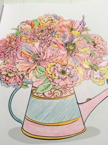 Adult coloring book keeping me busy.