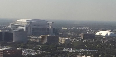 View of the Texas Medical Center from my ortho doc's office